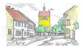 Federzeichnung von Klaus Kube, Samswegen